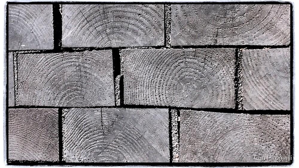 Wooden Pavers by Cyn Piromalli