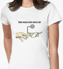 What would Bear Grylls do? Women's Fitted T-Shirt