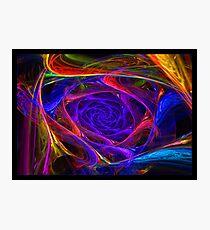 """Psychedelic Spirals"" - Fractal Art Photographic Print"