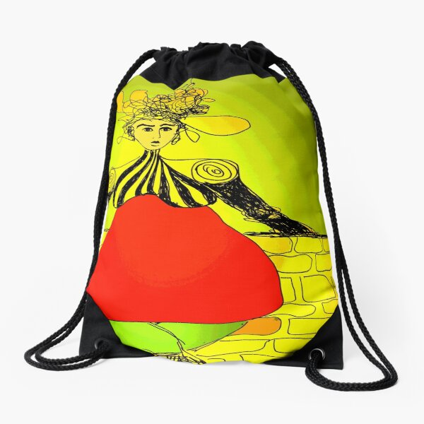 The Fat Lady Sings Drawstring Bag