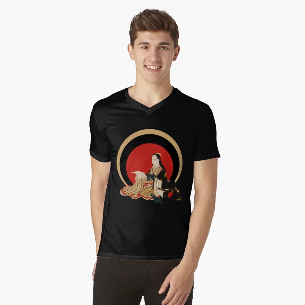 Kimonosonett T-Shirt mit V-Ausschnitt