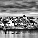 Crail Harbour At Dusk by KitDowney