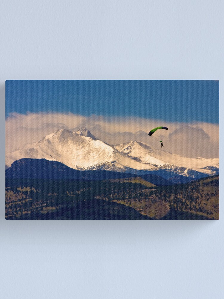 Alternate view of Leap of Twin Peaks Faith Canvas Print