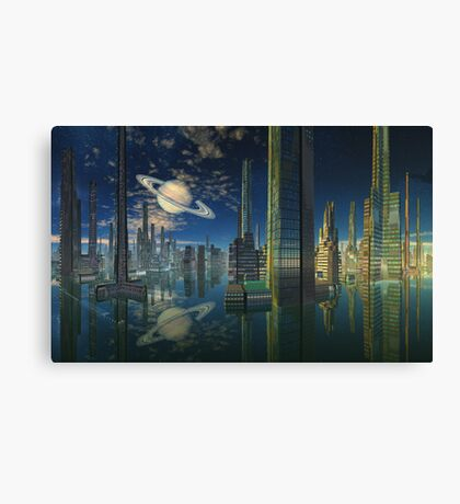 Cities of Tomorrow-Scariss Canvas Print