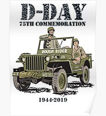 D-DAY 75th Commemoration, Rough Rider Jeep  Poster