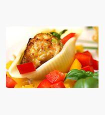 Conchiglie with Pepper Cream and Pepper Tricolore Photographic Print