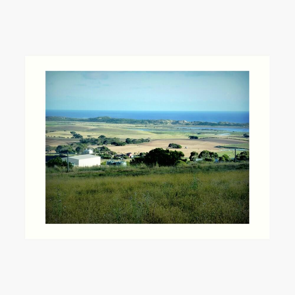 Ackerland in der Nähe des Tower HIll Vic. Kunstdruck