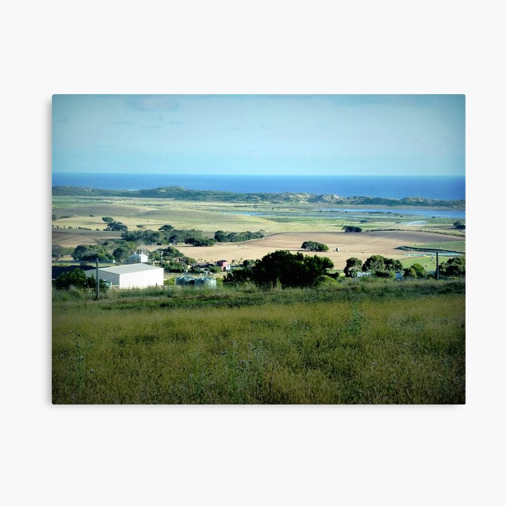 Ackerland in der Nähe des Tower HIll Vic. Leinwanddruck