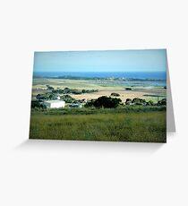 Ackerland in der Nähe des Tower HIll Vic. Grußkarte