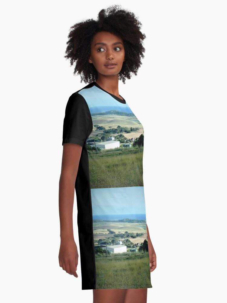 Alternative Ansicht von Ackerland in der Nähe des Tower HIll Vic. T-Shirt Kleid