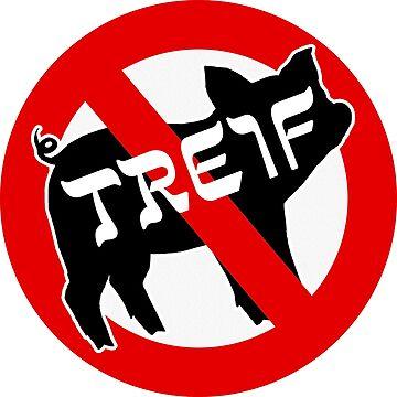 Treif Pig Funny Jewish Humor by CafePretzel