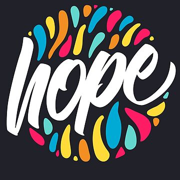 Hope - Stylish Colourful Brush Lettering Design von sebastianst