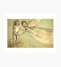 THE ANGEL FLEW Art Print