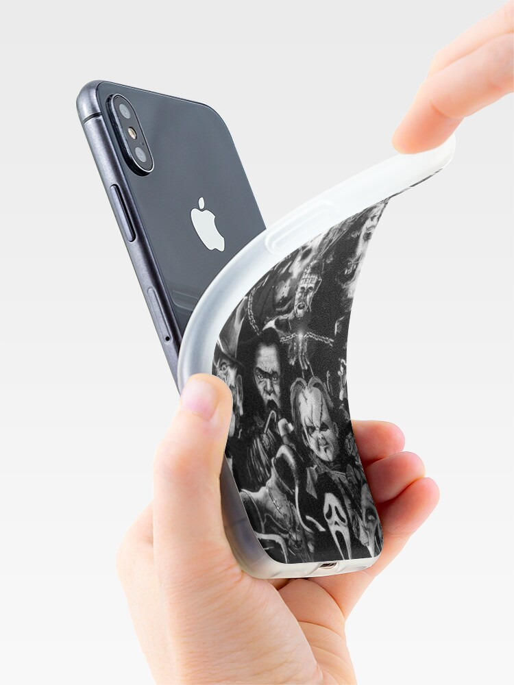 Alternate view of Horror Movie Collage iPhone Case & Cover