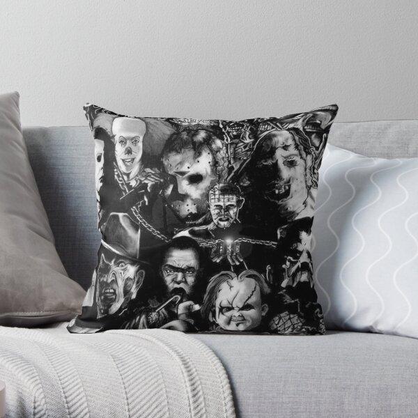 Horror Movie Collage Throw Pillow
