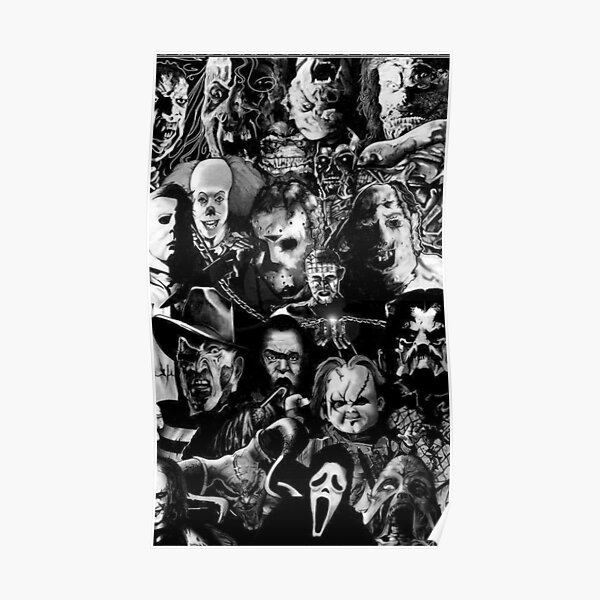 Horror Movie Collage Poster
