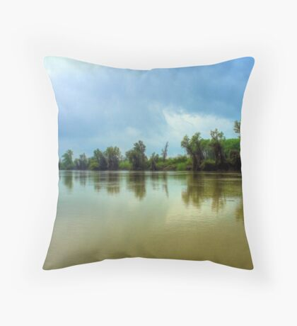Tisza river Throw Pillow