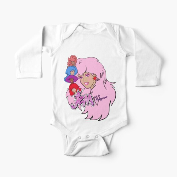 Jem and the Holograms Long Sleeve Baby One-Piece