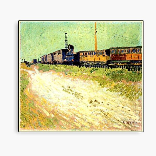 Van Gogh - Railway Carriages Canvas Print