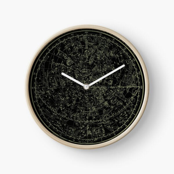 Constellations of the Northern Hemisphere | Yellowed Ink on Black Clock