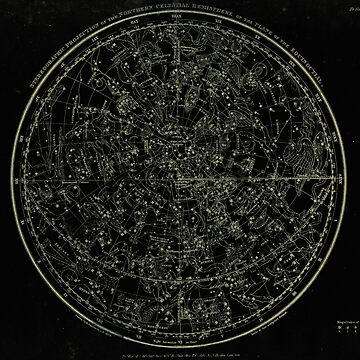 Constellations of the Northern Hemisphere | Yellowed Ink on Black by DanJohnDesign