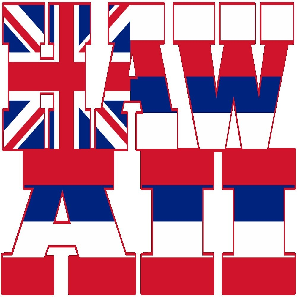 Hawaii state flag typography by oconnart