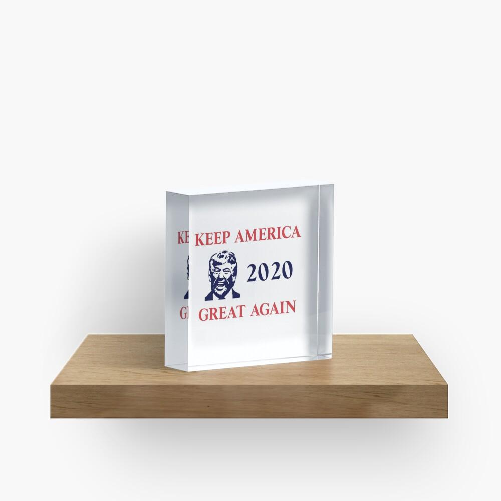 Trump 2020 Keep America Great Again. Gifts Acrylic Block