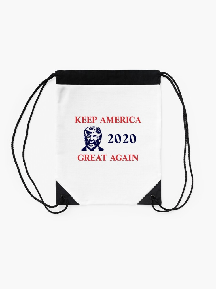 Alternate view of Trump 2020 Keep America Great Again. Gifts Drawstring Bag