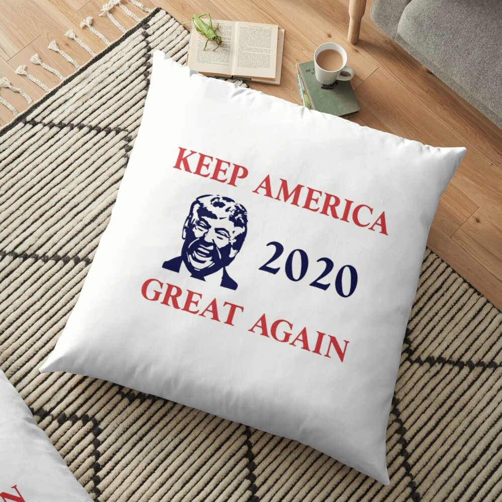 Trump 2020 Keep America Great Again. Gifts Floor Pillow