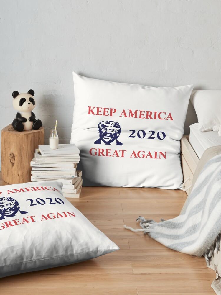 Alternate view of Trump 2020 Keep America Great Again. Gifts Floor Pillow