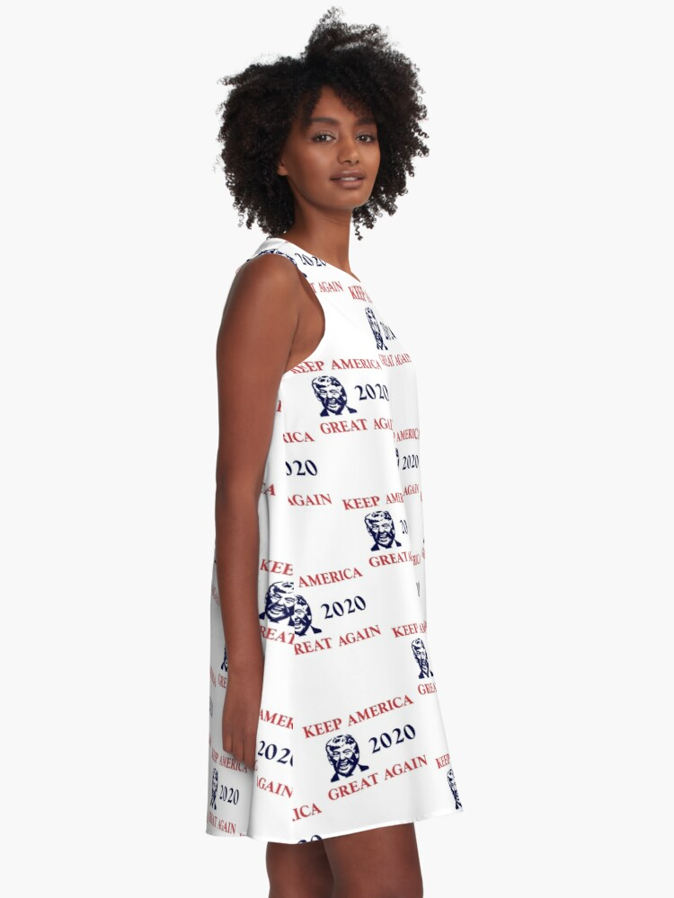 Alternate view of Trump 2020 Keep America Great Again. Gifts A-Line Dress