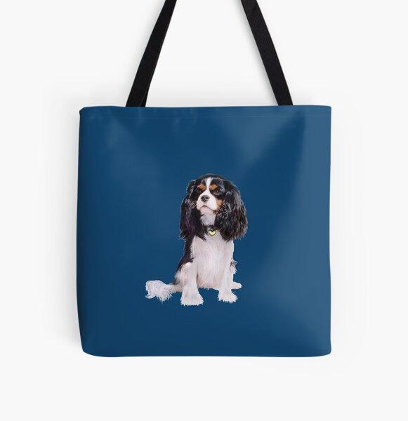 Cavalier King Charles Spaniel - Tri Color (B) All Over Print Tote Bag