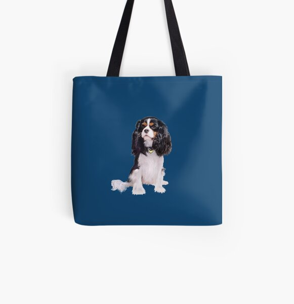 Cavalier King Charles Spaniel - Tri Color (B) All Over Print Tote Bag