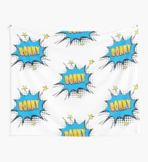 Comic book speech bubble font first name Ronny Wall Tapestry