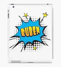 Comic book speech bubble font first name Ruben iPad Case/Skin