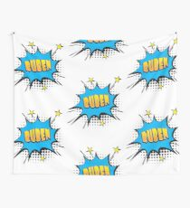 Comic book speech bubble font first name Ruben Wall Tapestry