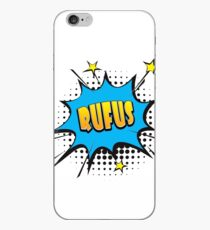 Comic book speech bubble font first name Rufus iPhone Case