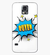 Comic book speech bubble font first name Ruven Case/Skin for Samsung Galaxy