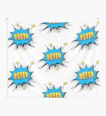 Comic book speech bubble font first name Ruven Wall Tapestry