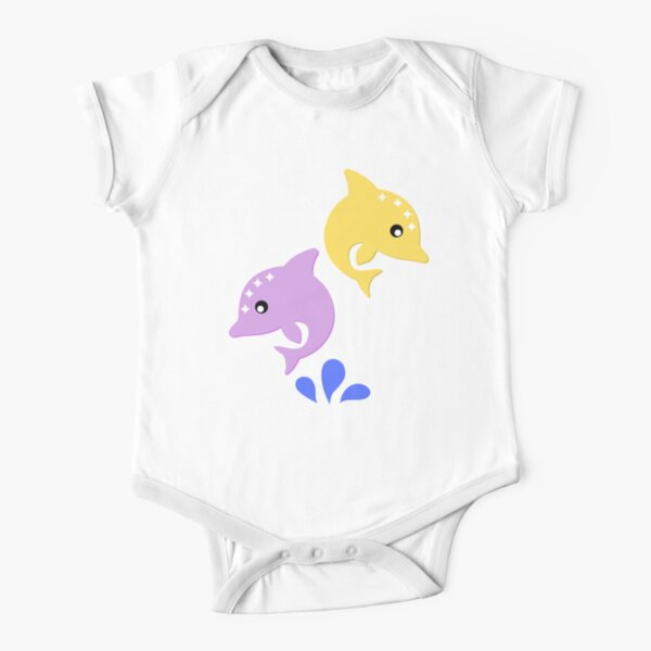 Dolphins Short Sleeve Baby One-Piece