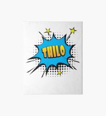 Comic book speech bubble font first name Thilo Art Board