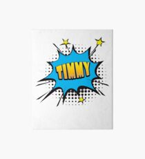 Comic book speech bubble font first name Timmy Art Board