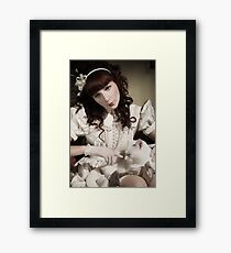 The Porcelain Doll - Porcelain Heart Framed Print