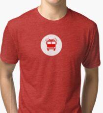 Fireman's T-Shirt - Fire Truck Sticker Tri-blend T-Shirt