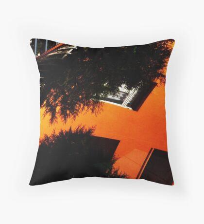 Orange Mecanique Throw Pillow