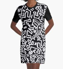 Society by Keith Haring Graphic T-Shirt Dress