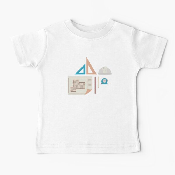Architecture Icons Illustrations Baby T-Shirt