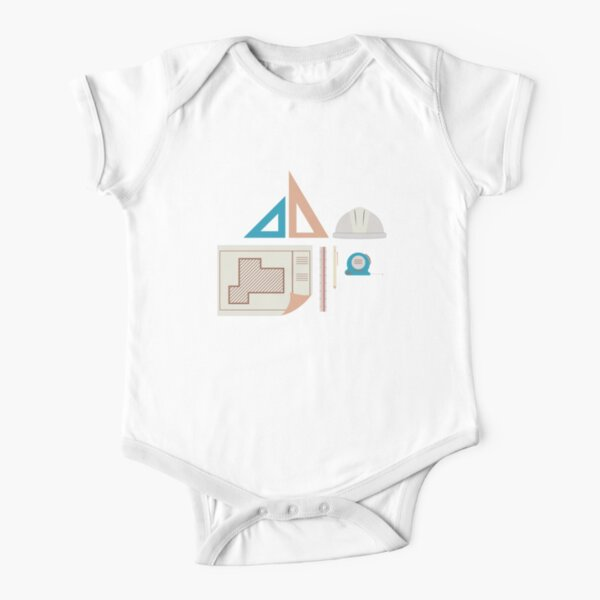 Architecture Icons Illustrations Short Sleeve Baby One-Piece