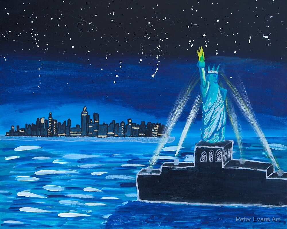 'Liberty at Night' by Lucy Kendrick (2015) by Peter Evans Art