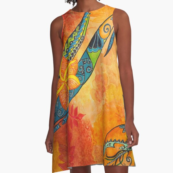 Maori autumn A-Line Dress